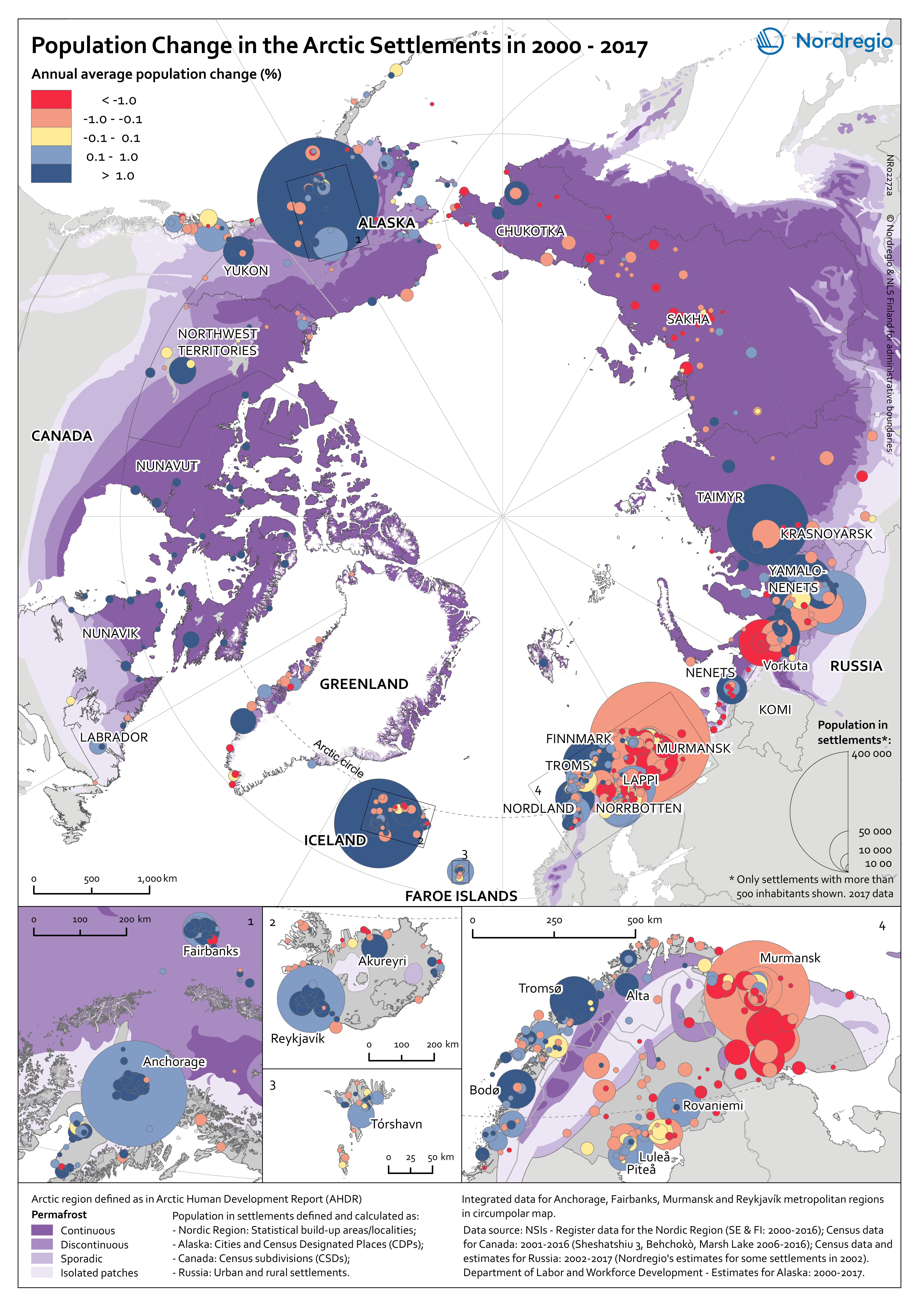 Picture of: Population Change At The Settlement Level In The Arctic Nordregio