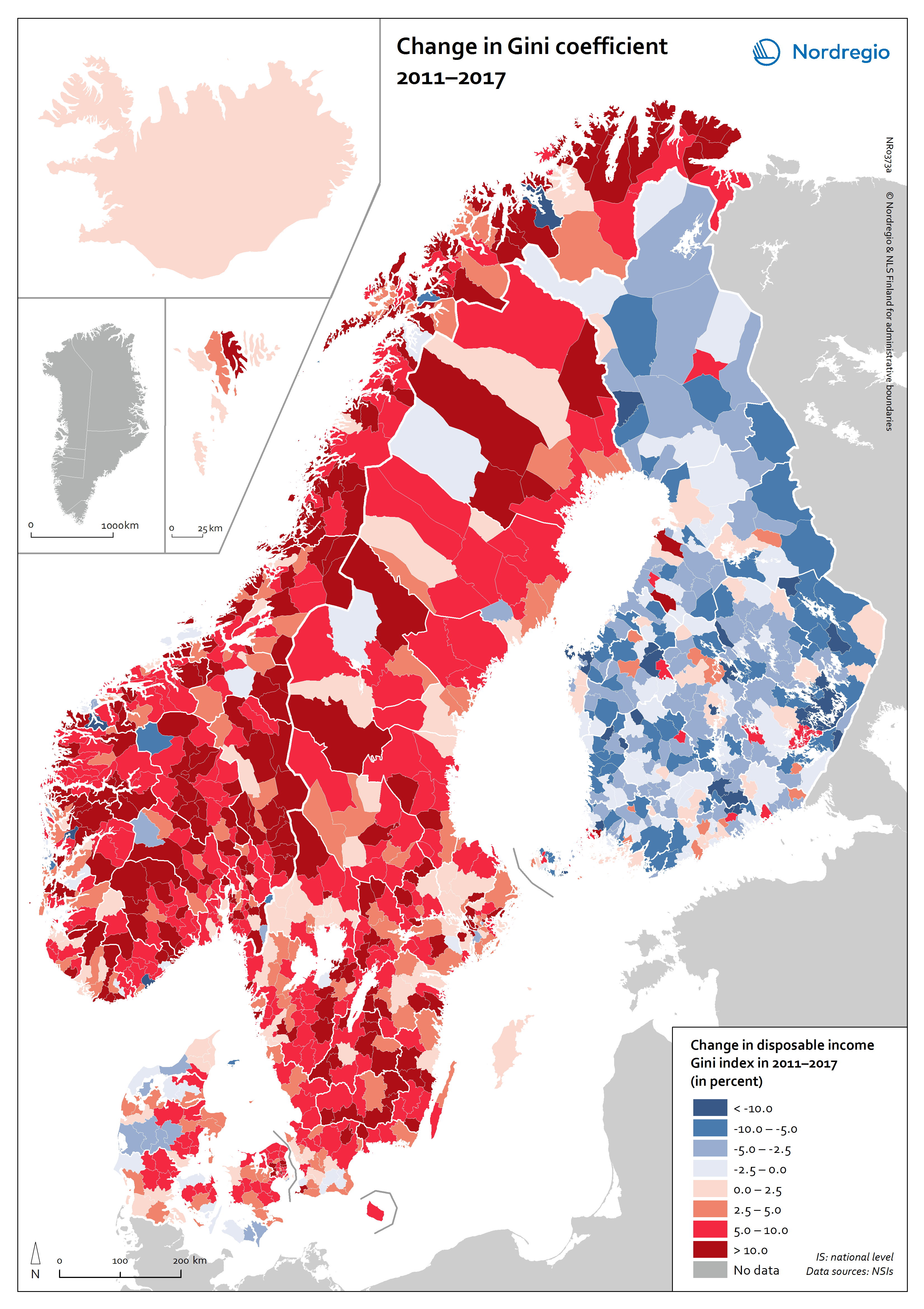 Picture of: Change In Gini Coefficient 2011 2017 Nordregio